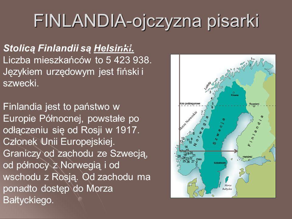 FINLANDIA-ojczyzna pisarki