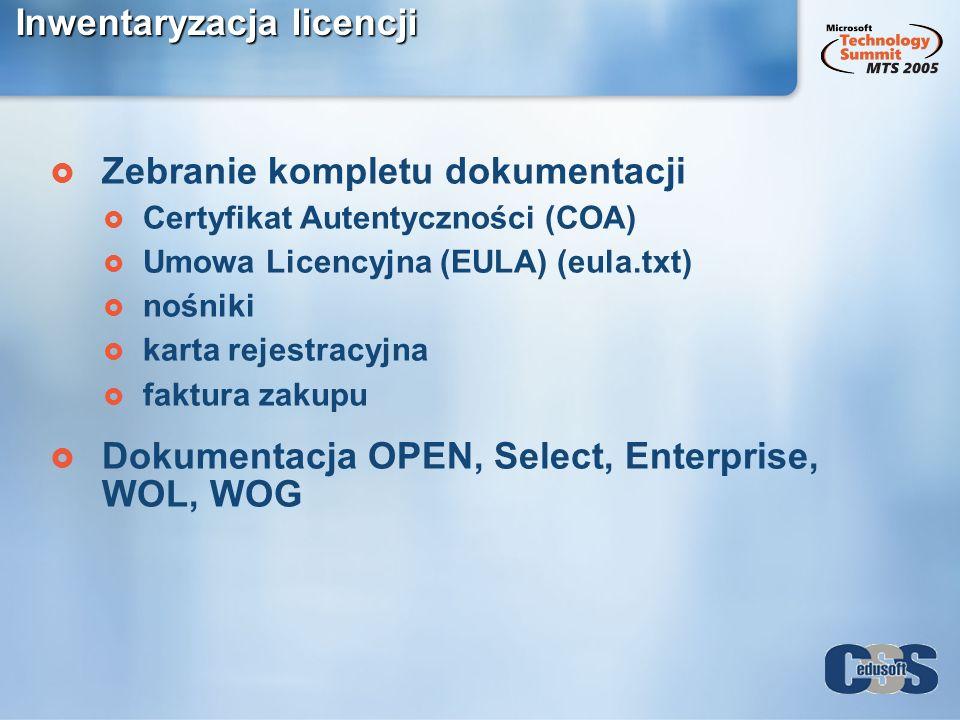 Inwentaryzacja licencji