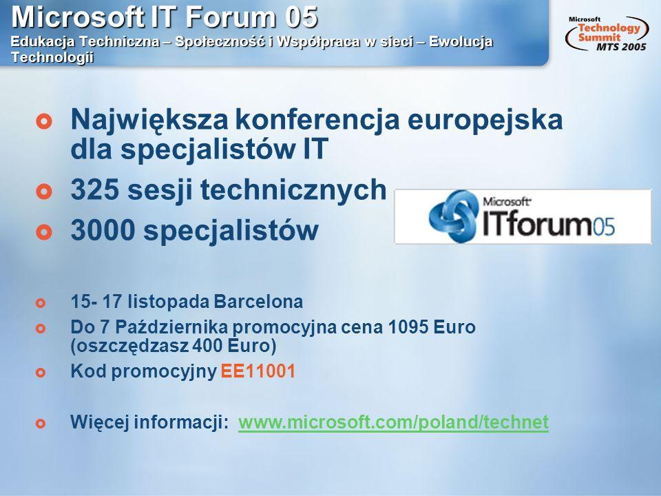 Największa konferencja europejska dla specjalistów IT