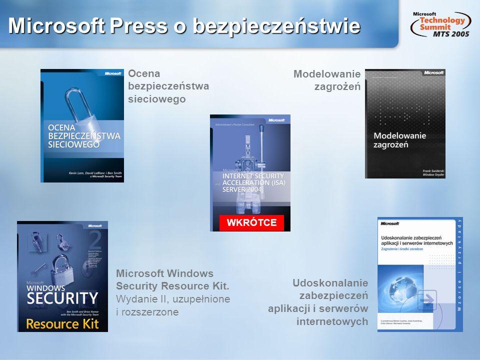 Microsoft Press o bezpieczeństwie
