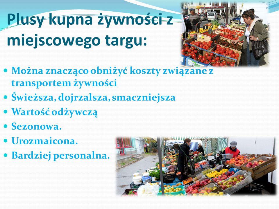 Plusy kupna żywności z miejscowego targu: