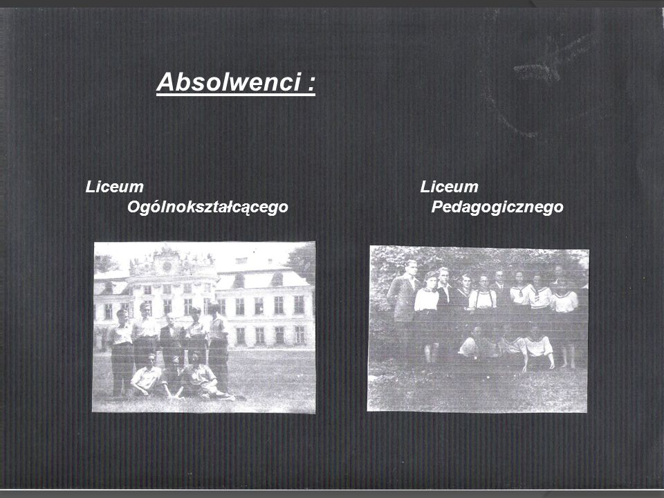 Absolwenci : Liceum Liceum.