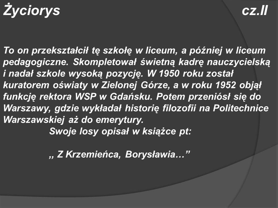 Życiorys cz.II