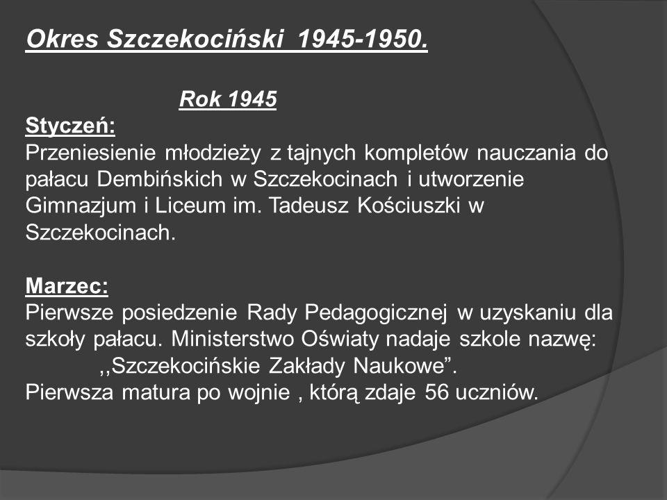 Okres Szczekociński 1945-1950. Rok 1945 Styczeń: