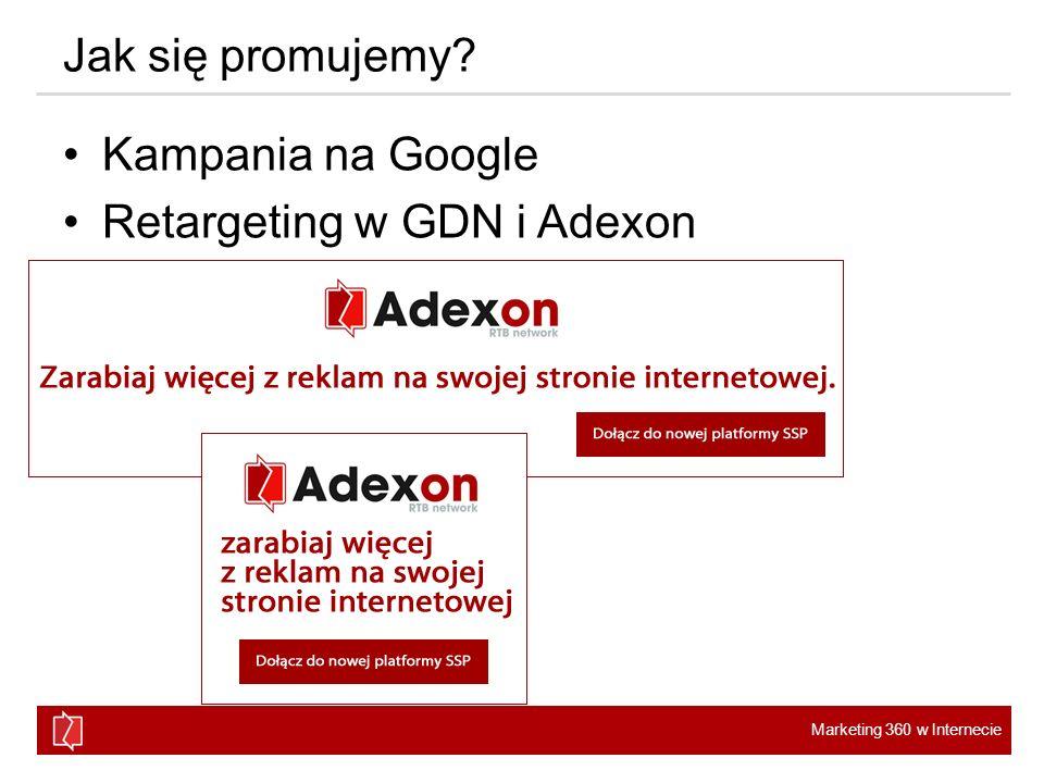 Jak się promujemy Kampania na Google Retargeting w GDN i Adexon