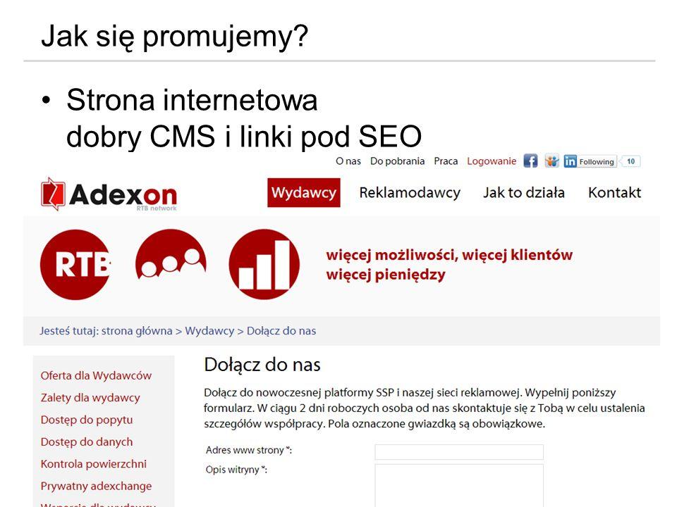 Jak się promujemy Strona internetowa dobry CMS i linki pod SEO