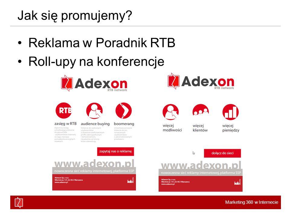 Jak się promujemy Reklama w Poradnik RTB Roll-upy na konferencje