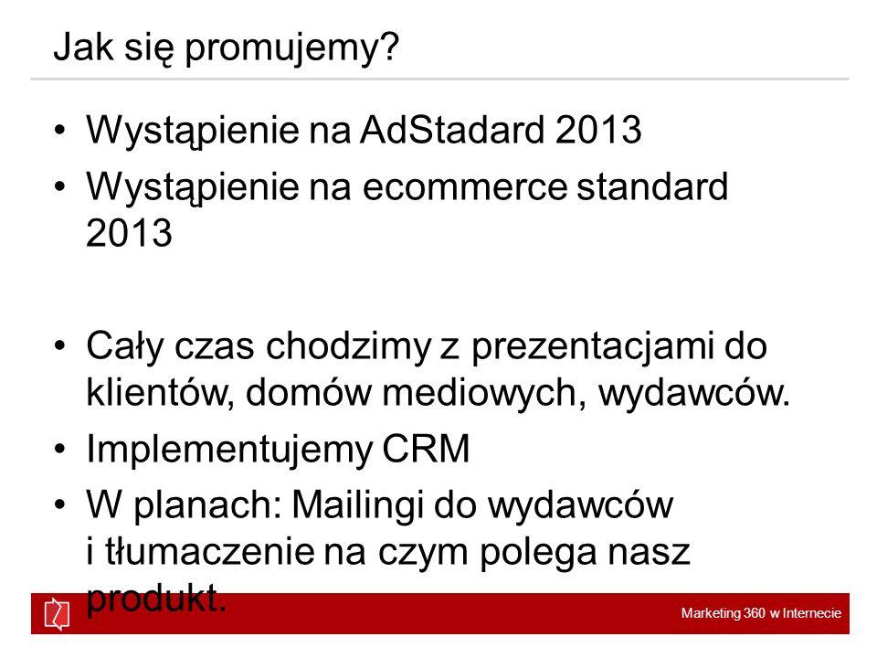 Jak się promujemy Wystąpienie na AdStadard 2013. Wystąpienie na ecommerce standard 2013.