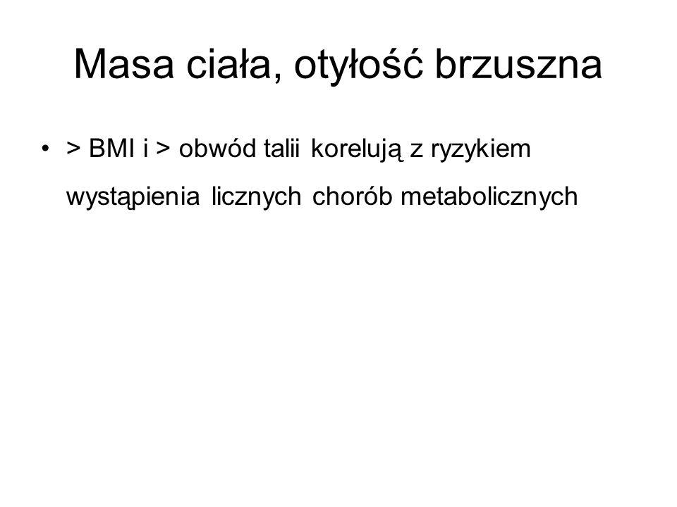 Masa ciała, otyłość brzuszna