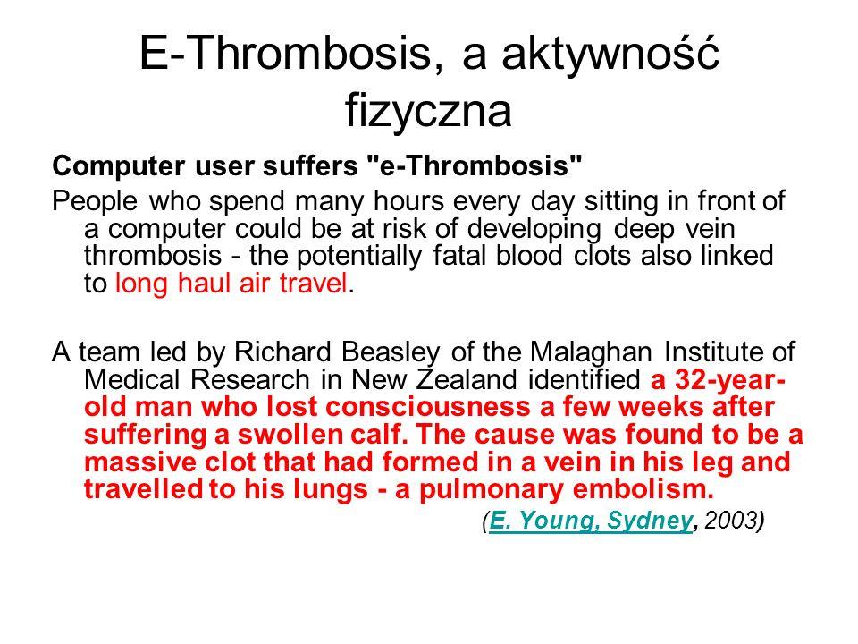E-Thrombosis, a aktywność fizyczna