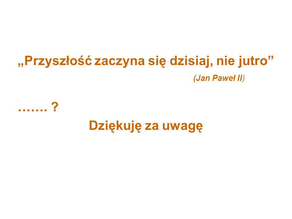 """""""Przyszłość zaczyna się dzisiaj, nie jutro (Jan Paweł II)"""