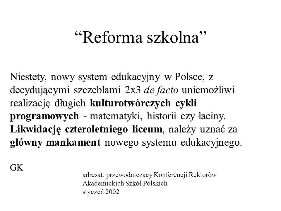 Reforma szkolna