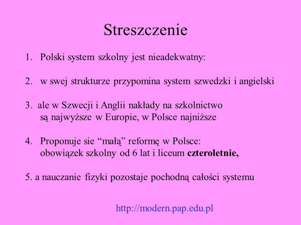 Streszczenie Polski system szkolny jest nieadekwatny: