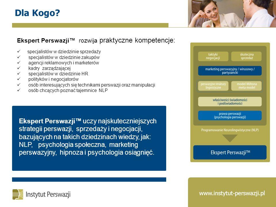 Dla Kogo Ekspert Perswazji™ rozwija praktyczne kompetencje: specjalistów w dziedzinie sprzedaży.