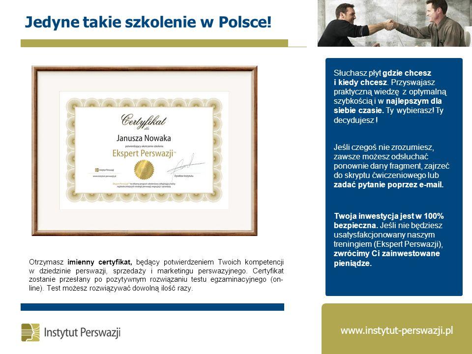 Jedyne takie szkolenie w Polsce!