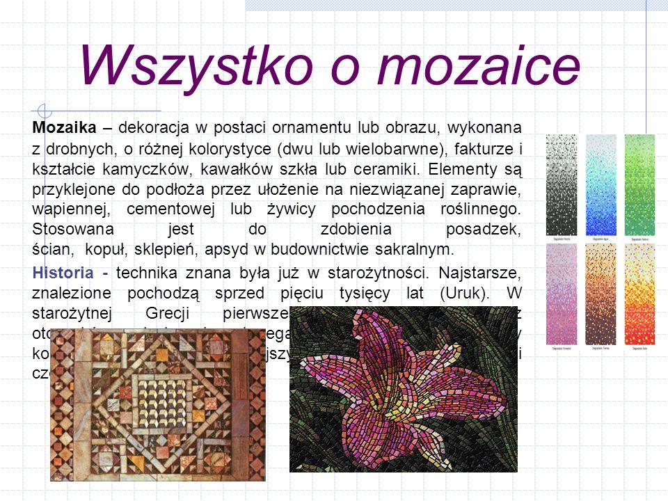 Wszystko o mozaice