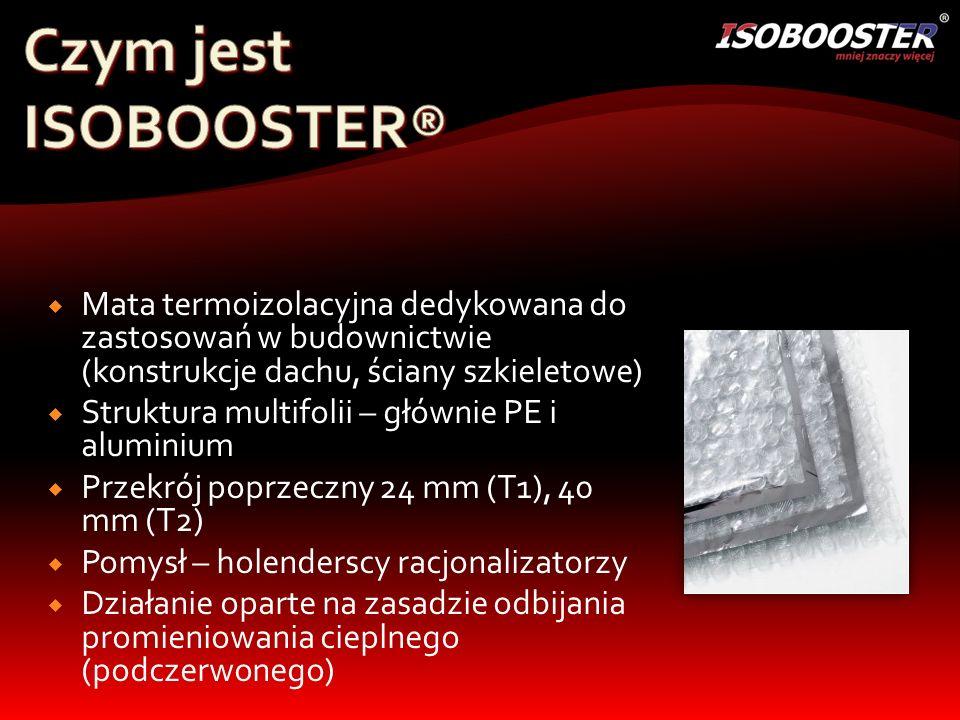 Czym jest ISOBOOSTER® Mata termoizolacyjna dedykowana do zastosowań w budownictwie (konstrukcje dachu, ściany szkieletowe)