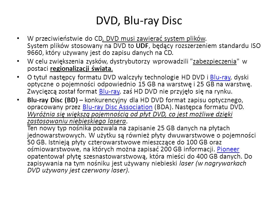 DVD, Blu-ray Disc