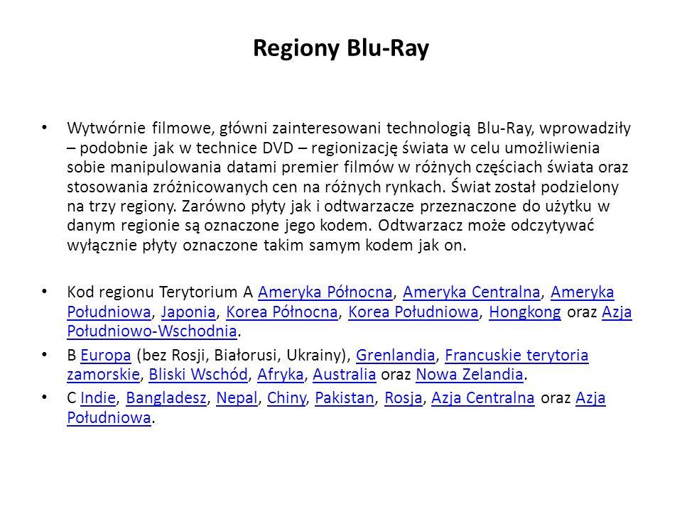 Regiony Blu-Ray