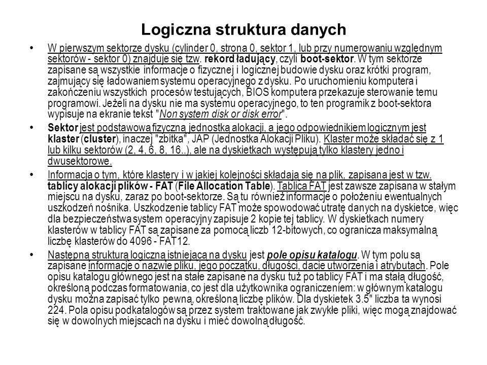 Logiczna struktura danych