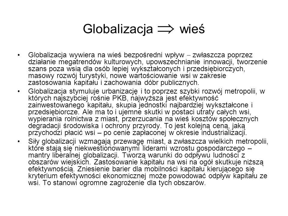 Globalizacja  wieś