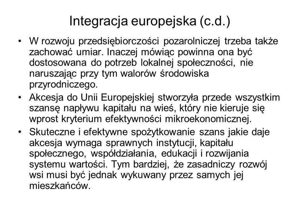 Integracja europejska (c.d.)