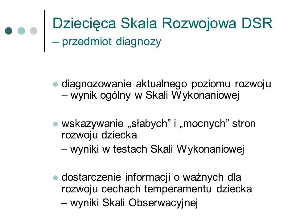 Dziecięca Skala Rozwojowa DSR – przedmiot diagnozy