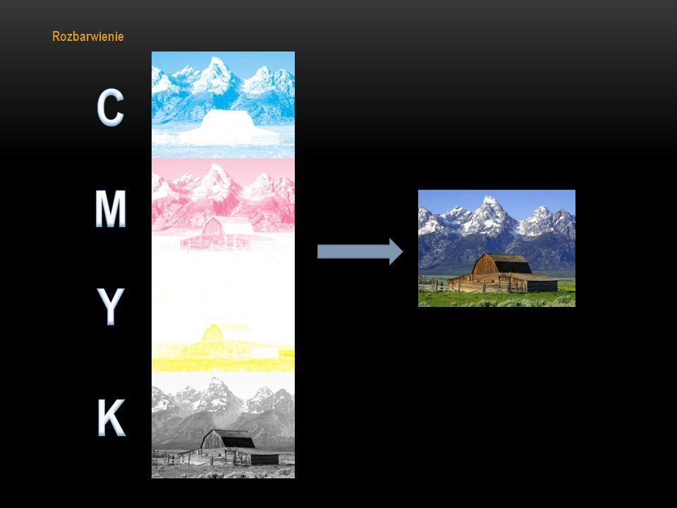 Rozbarwienie C M Y K