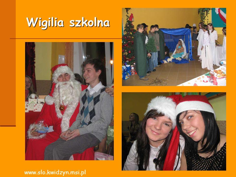 Wigilia szkolna www.slo.kwidzyn.msi.pl