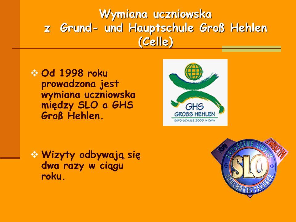 Wymiana uczniowska z Grund- und Hauptschule Groß Hehlen (Celle)
