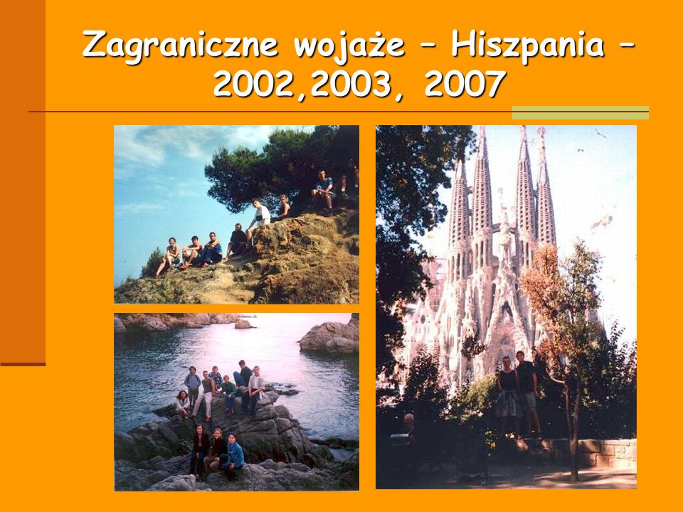 Zagraniczne wojaże – Hiszpania – 2002,2003, 2007