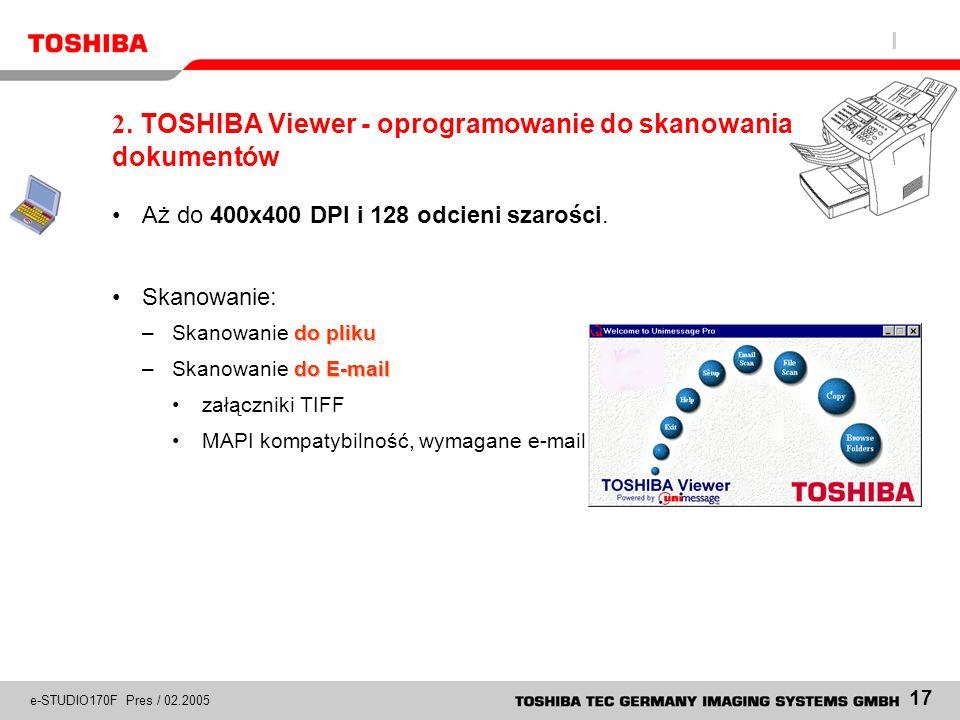 2. TOSHIBA Viewer - oprogramowanie do skanowania dokumentów
