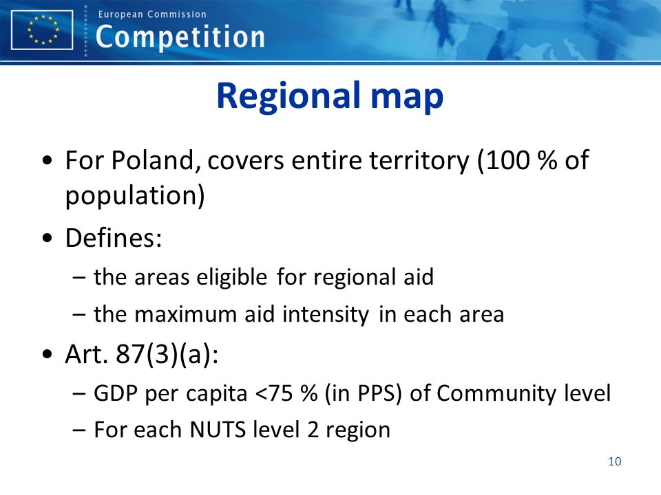 Regional map For Poland, covers entire territory (100 % of population)