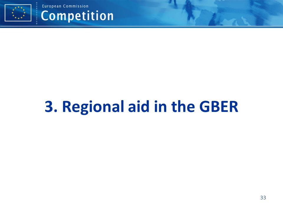 3. Regional aid in the GBER