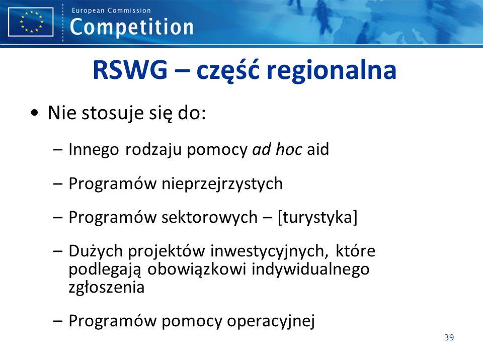 RSWG – część regionalna
