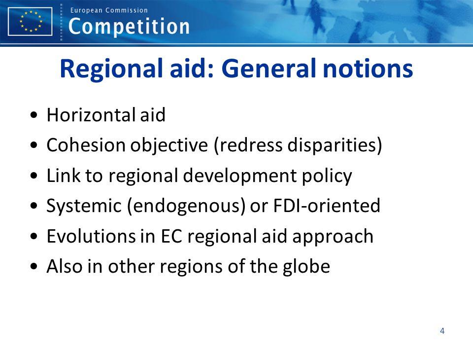 Regional aid: General notions