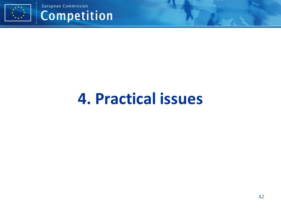 4. Practical issues