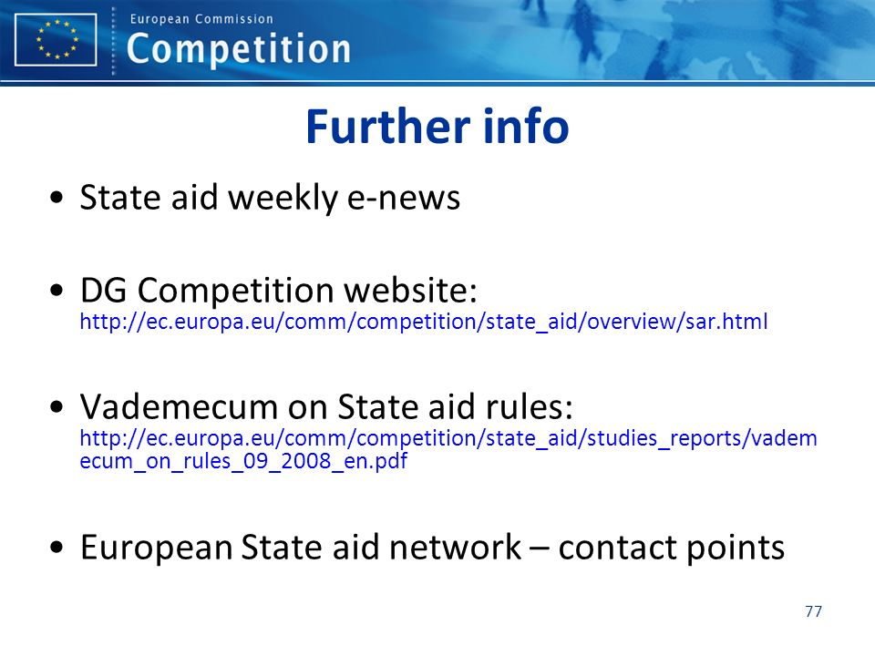 Further info State aid weekly e-news