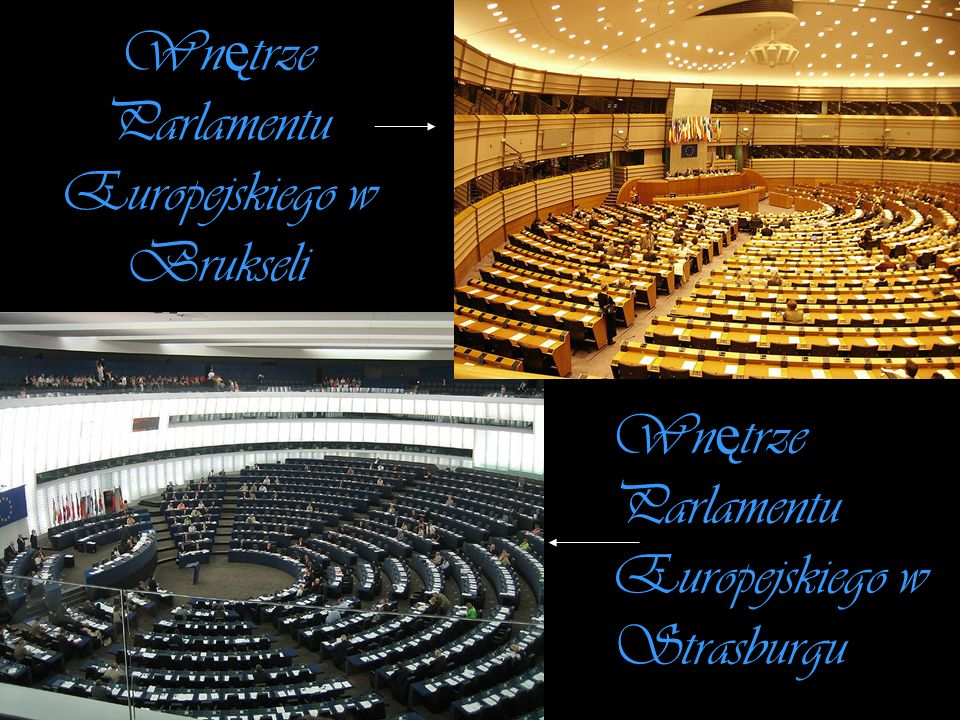 Wnętrze Parlamentu Europejskiego w Brukseli