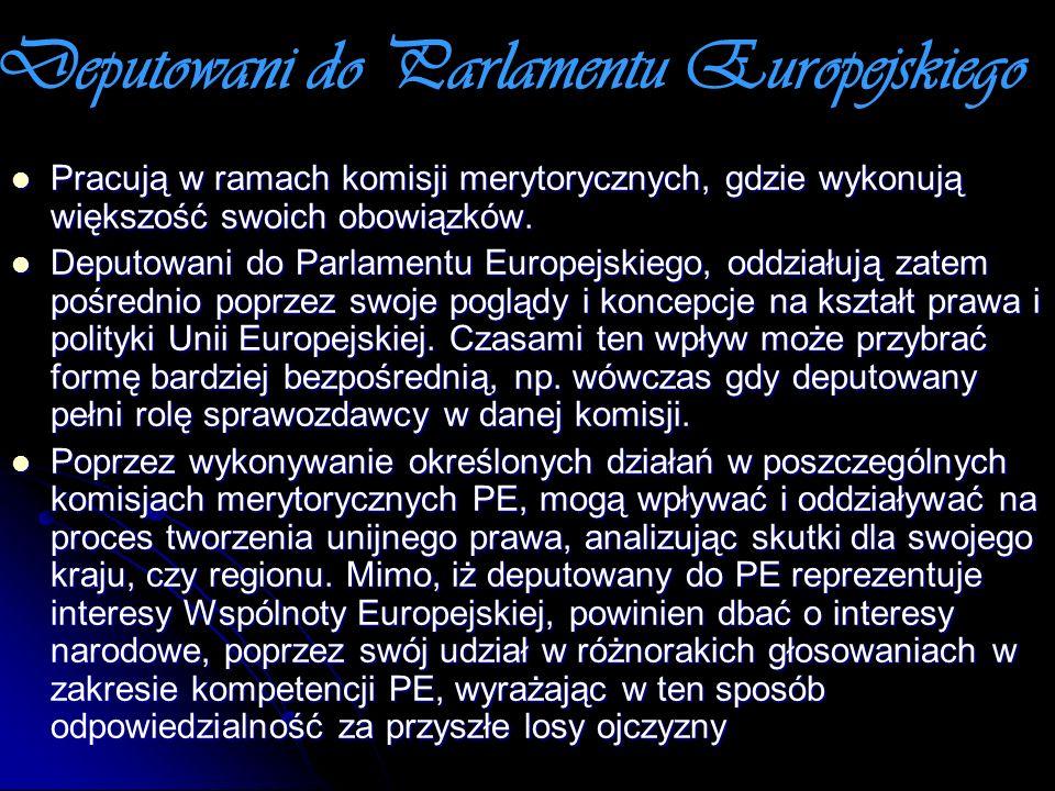 Deputowani do Parlamentu Europejskiego
