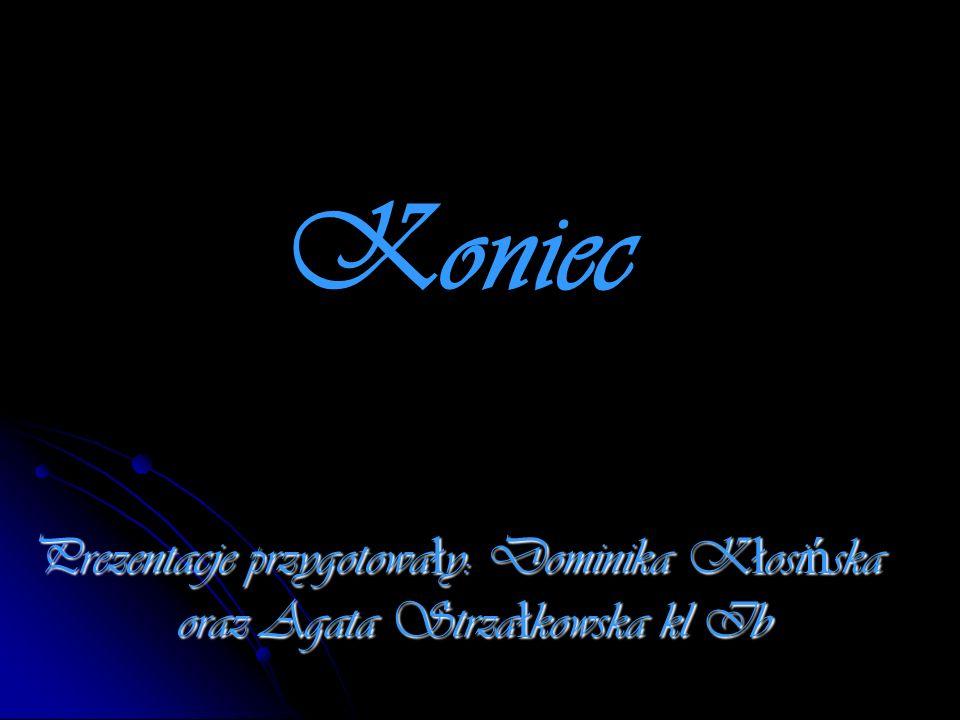 Koniec Prezentacje przygotowały: Dominika Kłosińska oraz Agata Strzałkowska kl Ib