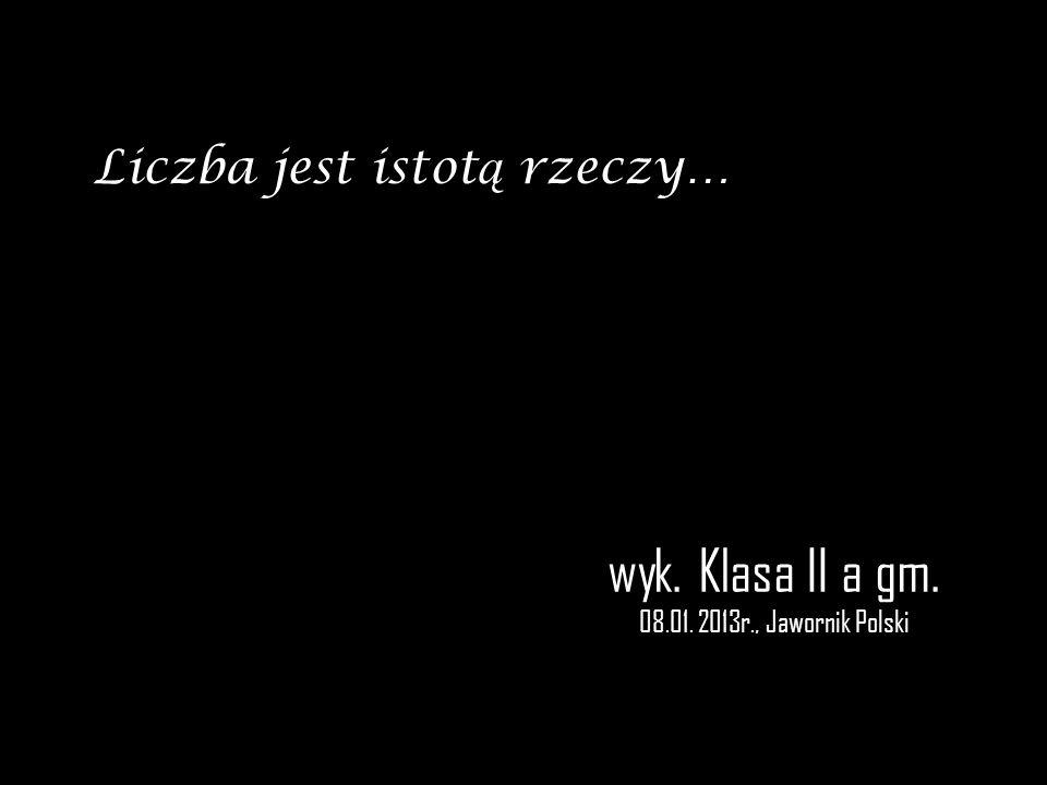 wyk. Klasa II a gm. 08.01. 2013r., Jawornik Polski