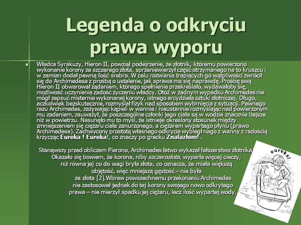 Legenda o odkryciu prawa wyporu