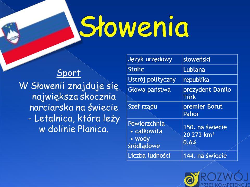 SłoweniaJęzyk urzędowy. słoweński. Stolic. Lublana. Ustrój polityczny. republika. Głowa państwa. prezydent Danilo Türk.