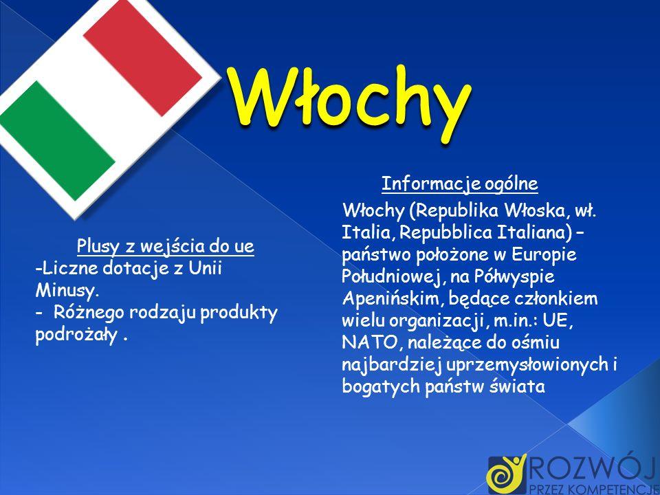 Włochy Informacje ogólne