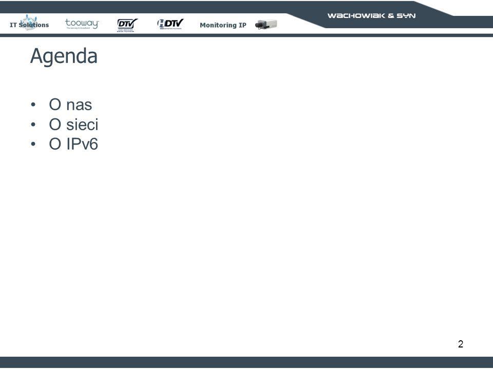 Agenda O nas O sieci O IPv6