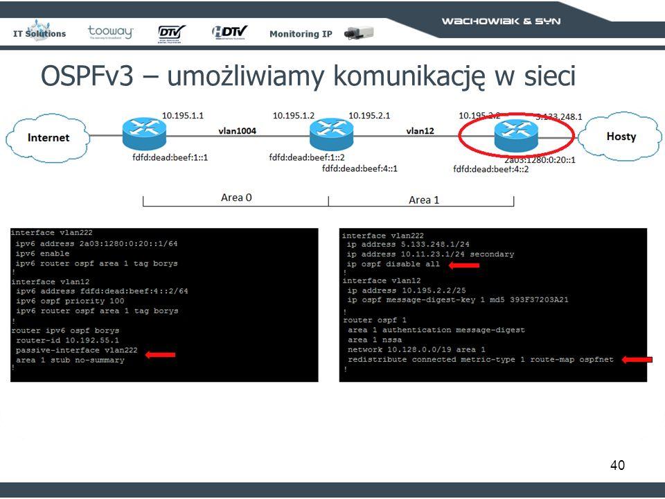 OSPFv3 – umożliwiamy komunikację w sieci