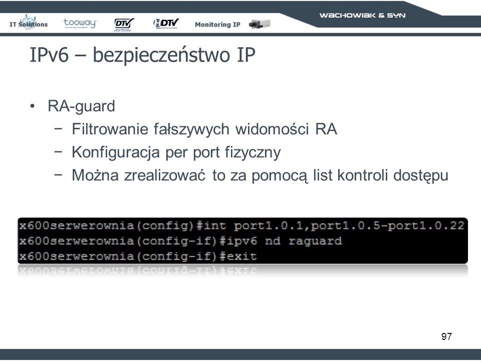 IPv6 – bezpieczeństwo IP