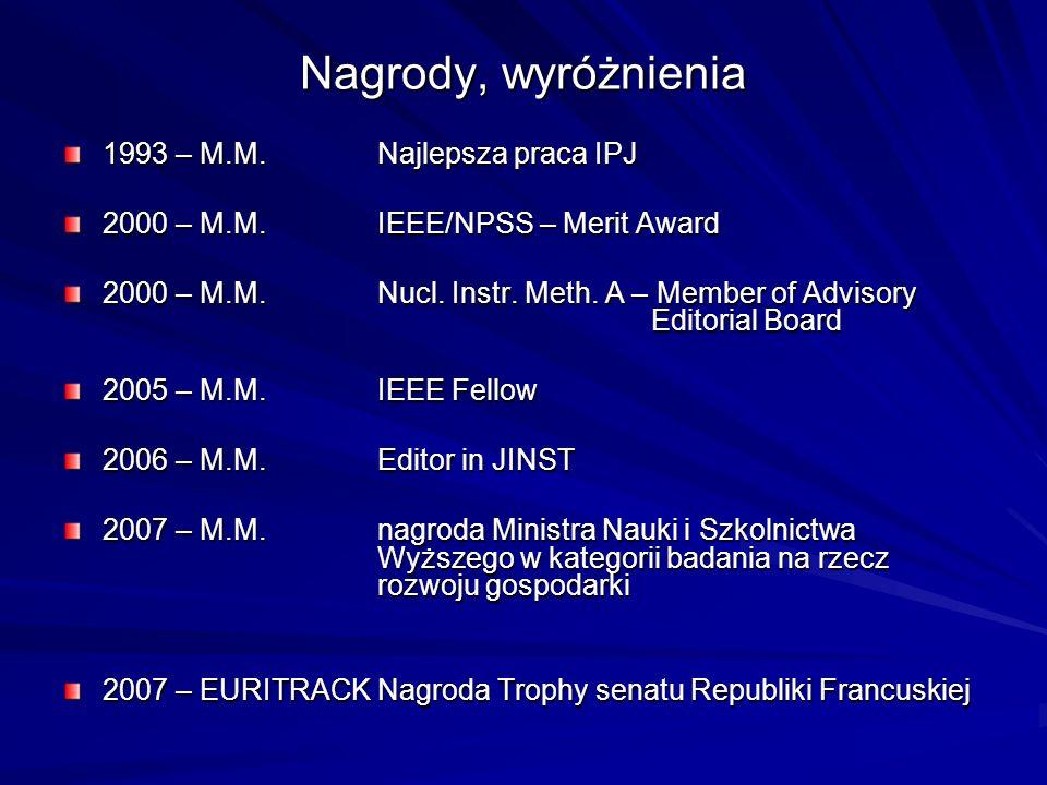 Nagrody, wyróżnienia 1993 – M.M. Najlepsza praca IPJ