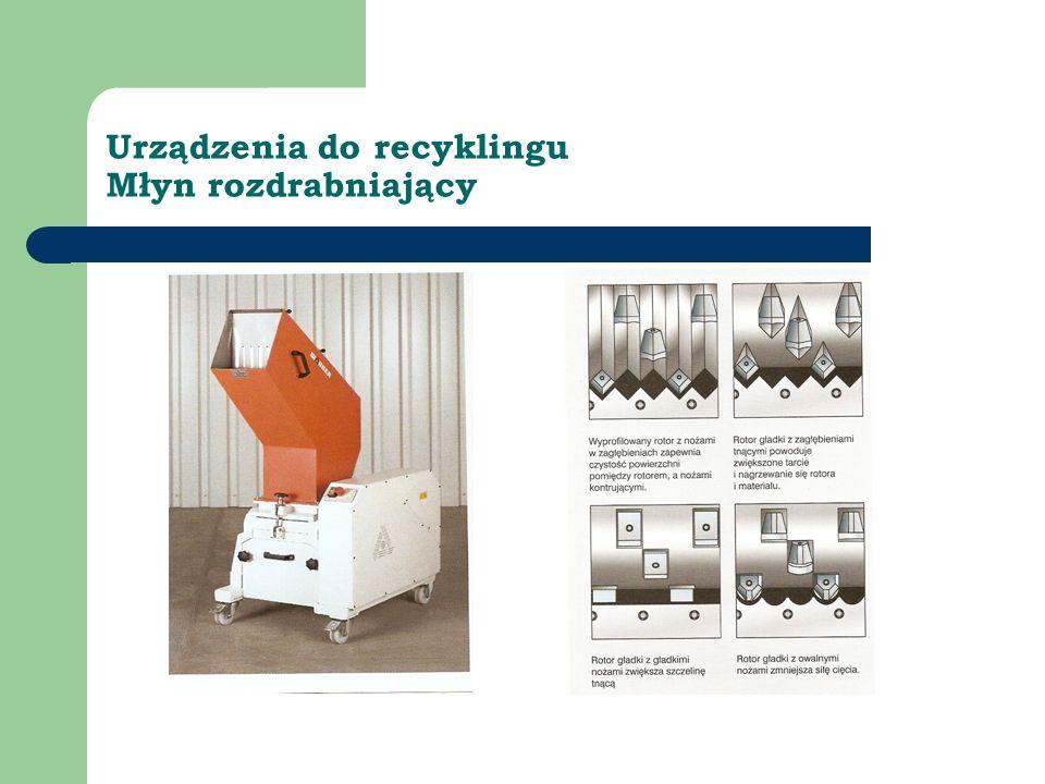 Urządzenia do recyklingu Młyn rozdrabniający